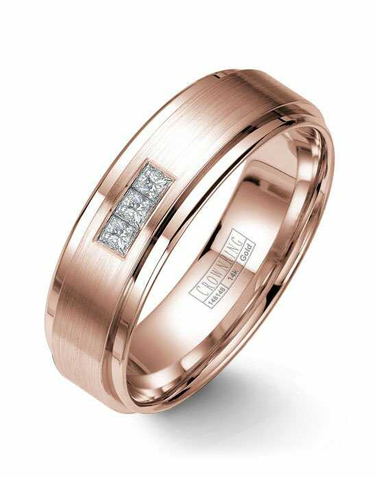 CrownRing WB-7973-M10 Rose Gold Wedding Ring