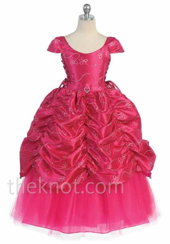 Pink Princess D596 Pink Flower Girl Dress