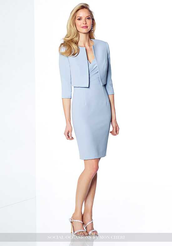 Social Occasions by Mon Cheri 117812 Blue Mother Of The Bride Dress