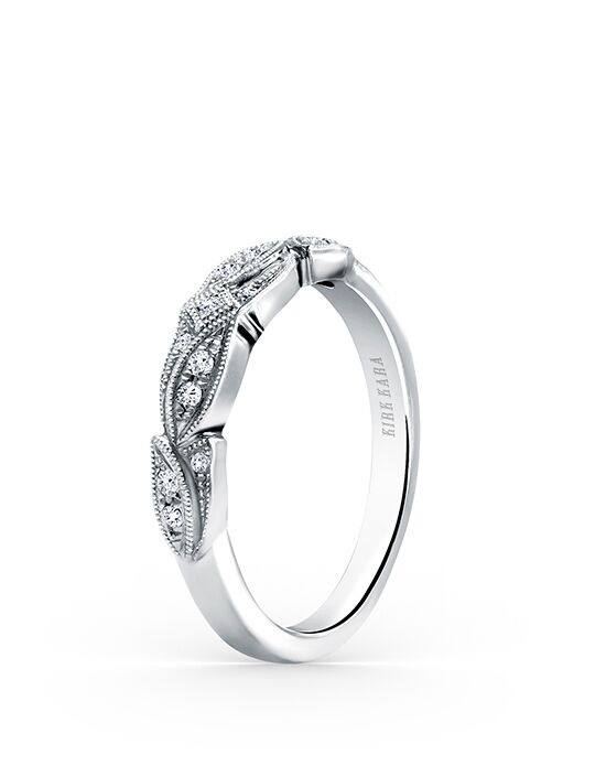 Kirk Kara Dahlia Collection K156-B White Gold Wedding Ring
