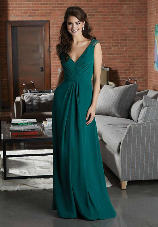Morilee by Madeline Gardner Bridesmaids 21598 V-Neck Bridesmaid Dress
