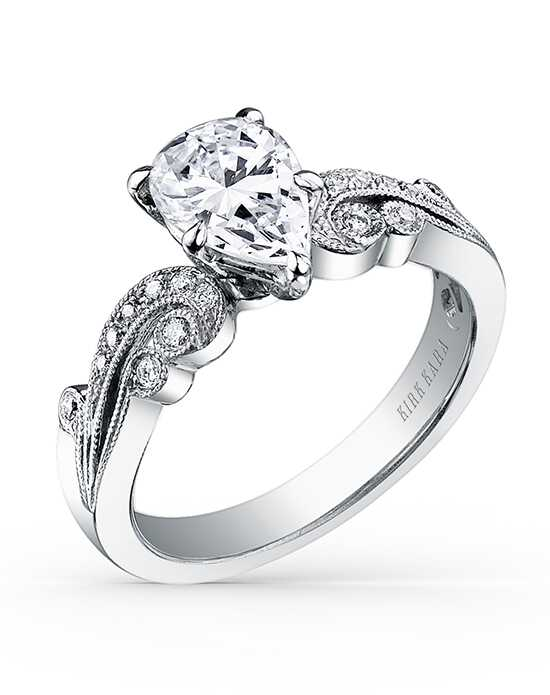 Kirk Kara Vintage Pear Cut Engagement Ring