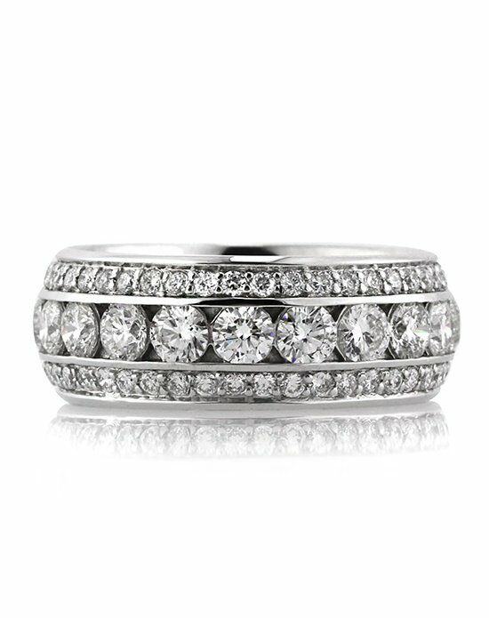 Mark Broumand 3.50ct Round Brilliant Cut Diamond Eternity Band White Gold Wedding Ring