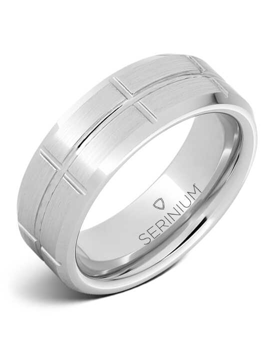 Serinium® Collection Grid — Satin Finish Serinium® Ring-RMSA002846 Serinium® Wedding Ring