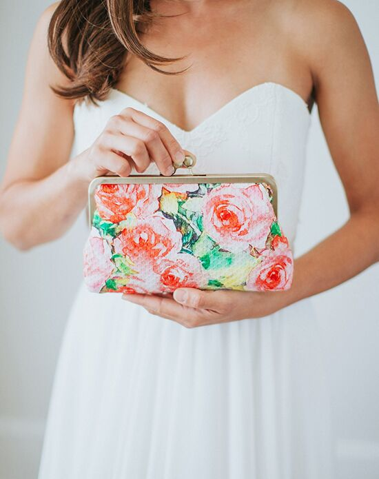 Davie & Chiyo | Clutch Collection Isabella Clutch Green, Ivory, Pink, Red, Yellow Clutches + Handbag