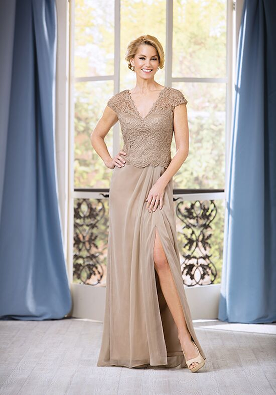 Jade J185061 Gold Mother Of The Bride Dress