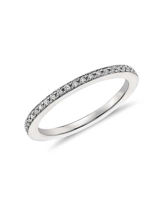 Monique Lhuillier Fine Jewelry Pavé Diamond Ring (1/8 ct. tw.) Platinum Wedding Ring