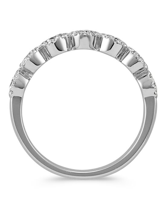 Shane Co. Diamond Halo Wedding Band in 14k White Gold White Gold Wedding Ring