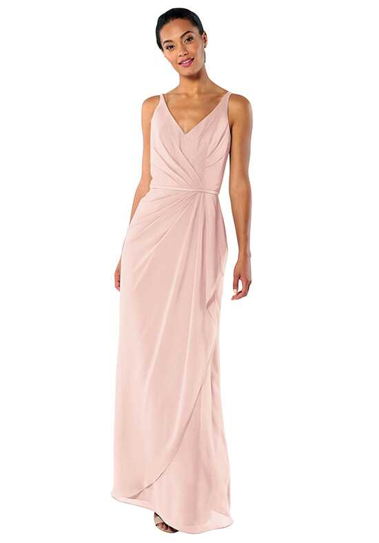 Brideside Dionne in Blush V-Neck Bridesmaid Dress