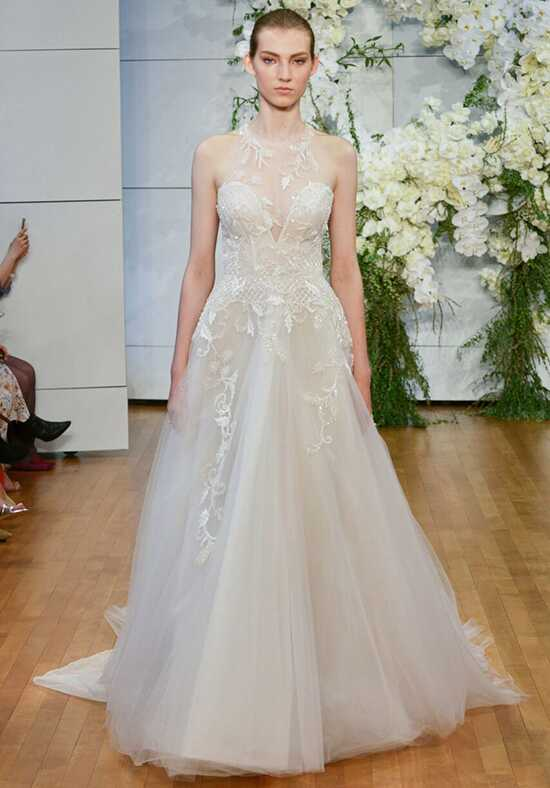 Monique Lhuillier Sage Ball Gown Wedding Dress