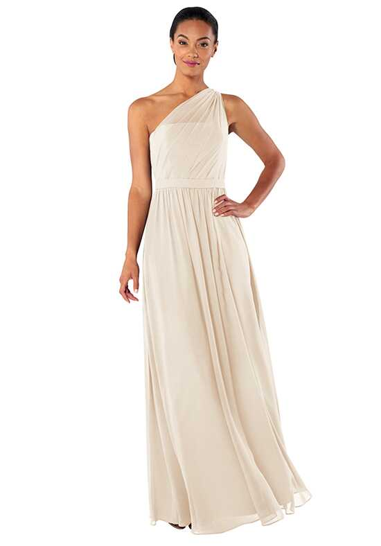 Brideside Tina in Vanilla Bean One Shoulder Bridesmaid Dress