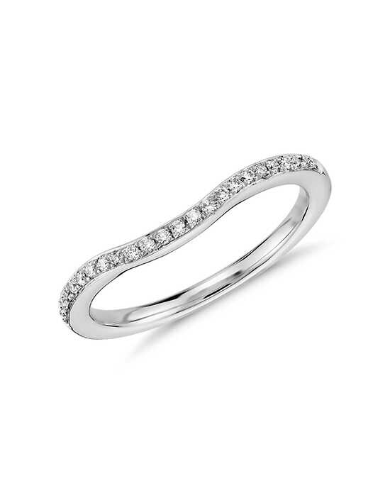 Monique Lhuillier Fine Jewelry Pavé Diamond Ring Platinum Wedding Ring