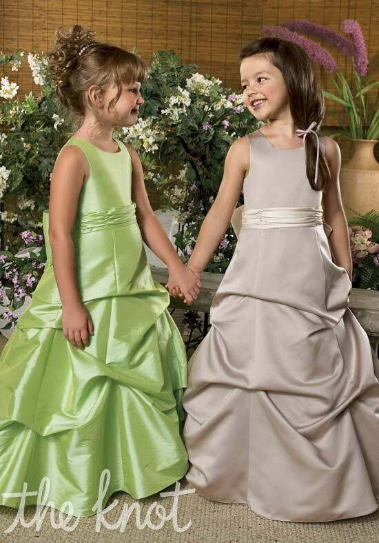 Sweet Beginnings L820 and L823 Brown Flower Girl Dress