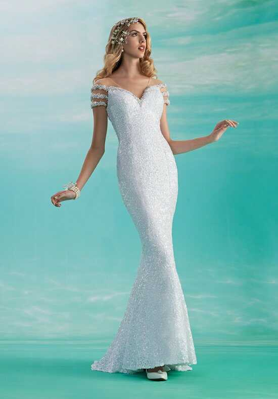 1 Wedding by Mary's Bridal 3Y373 Mermaid Wedding Dress