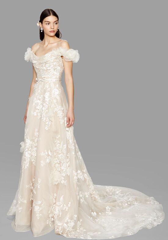 Marchesa melrose wedding dress the knot for Marchesa wedding dress price