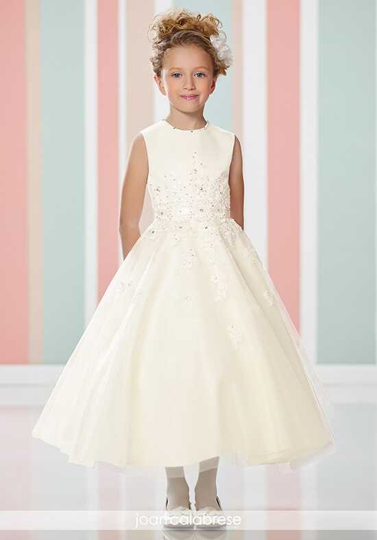 Joan Calabrese by Mon Cheri 216313 Ivory Flower Girl Dress