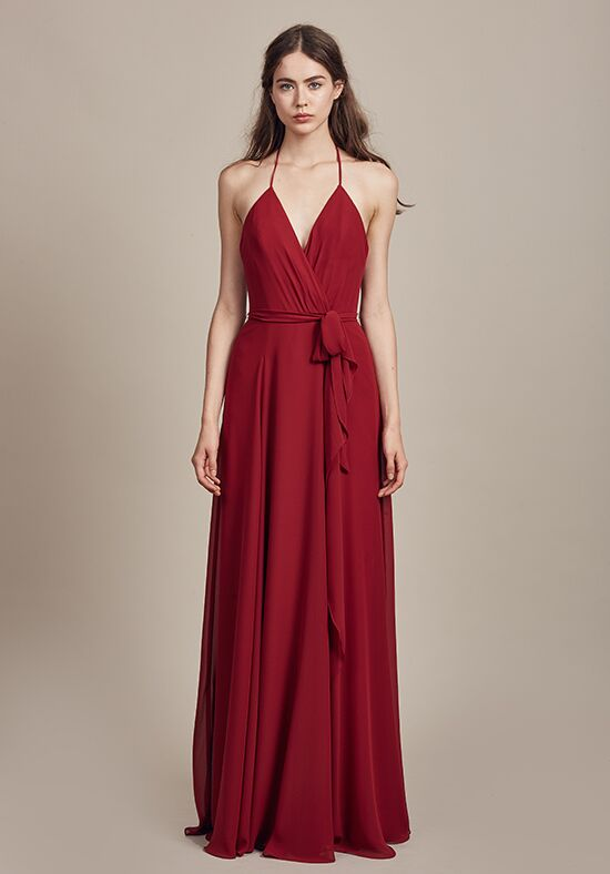 Amsale Bridesmaids Carmelle V-Neck Bridesmaid Dress