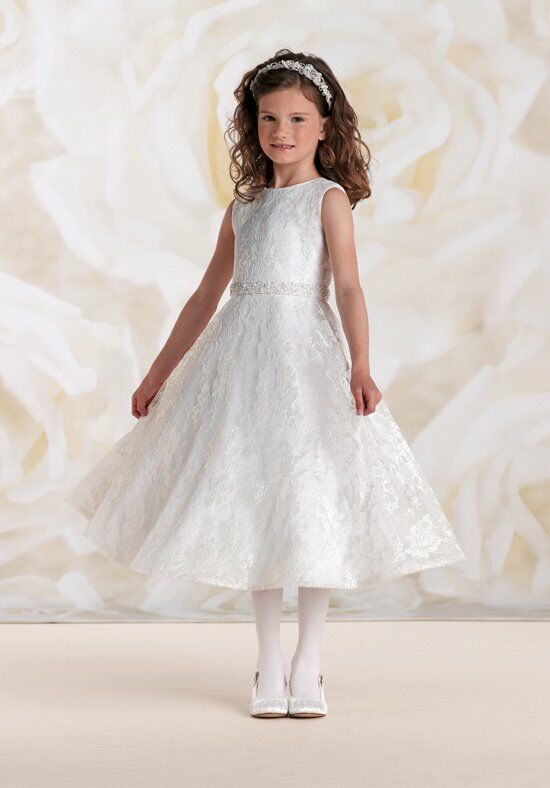 Joan Calabrese by Mon Cheri 115319 Ivory Flower Girl Dress