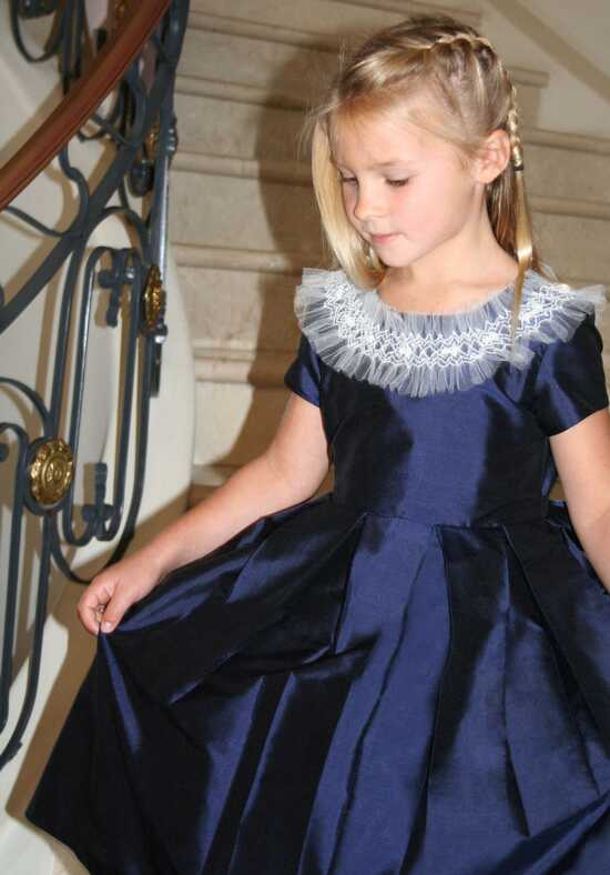 Isabel Garretón Carousel Blue Flower Girl Dress