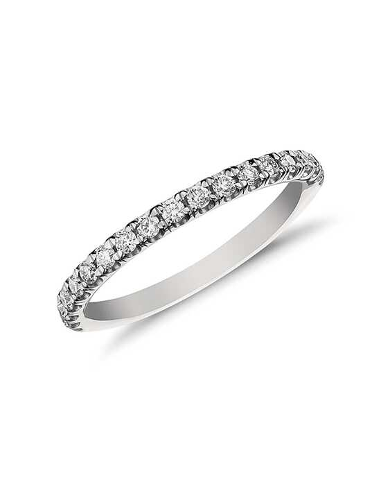 Monique Lhuillier Fine Jewelry French Pavé Diamond Ring (1/5 ct. tw.) Platinum Wedding Ring