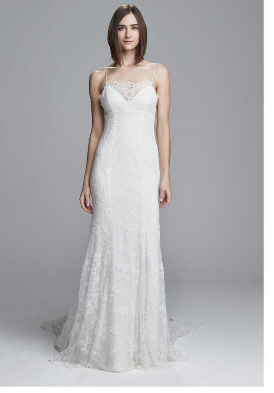 Christos Lulu Sheath Wedding Dress