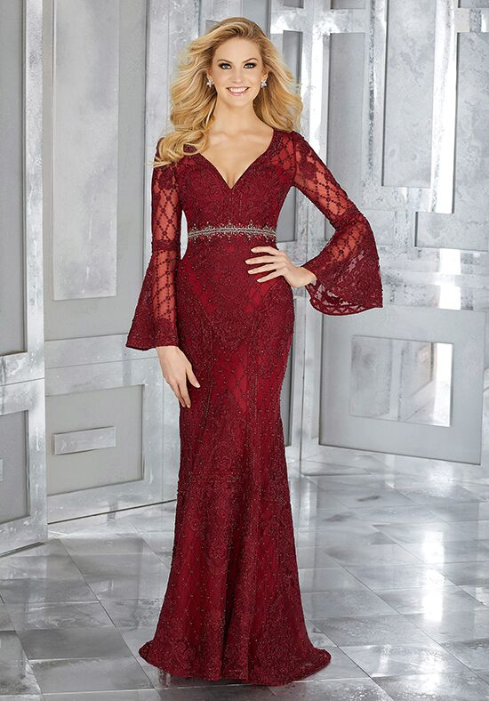 MGNY 71637 Red Mother Of The Bride Dress