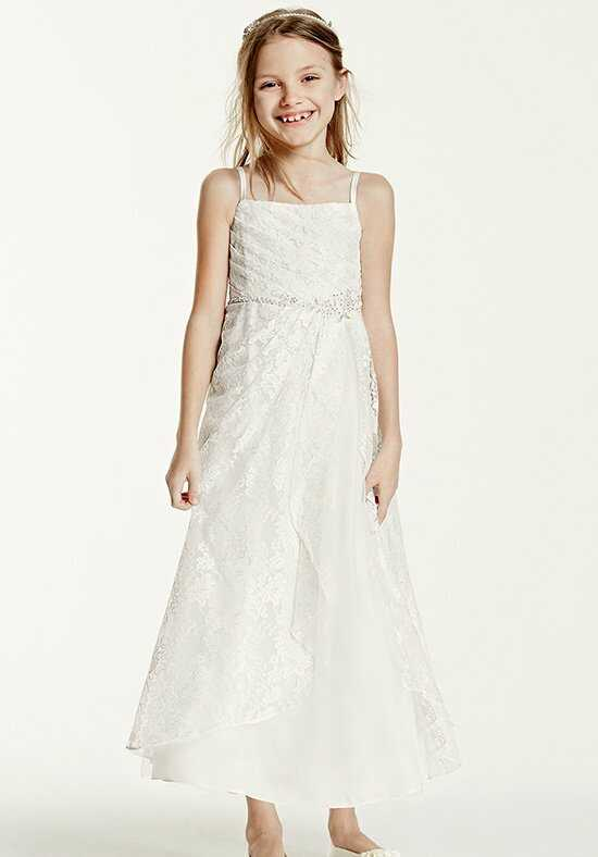 David's Bridal Flower Girl FG3344 Ivory Flower Girl Dress