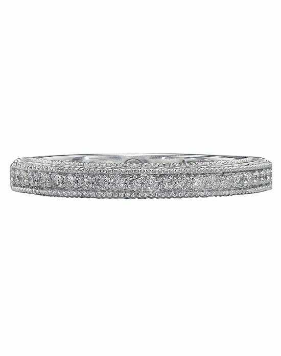 Christopher Designs D80B White Gold Wedding Ring