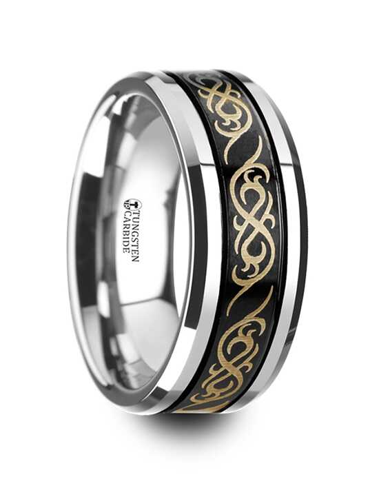 Mens Tungsten Wedding Bands W4287-BCTP Tungsten Wedding Ring