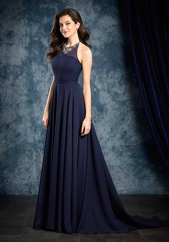 Alfred Angelo Sapphire Bridesmaid Collection 8108L Halter Bridesmaid Dress
