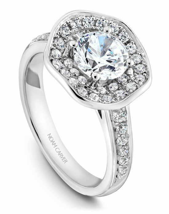 Noam Carver Unique Round Cut Engagement Ring