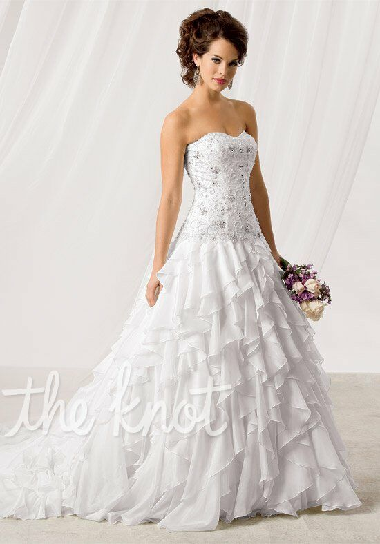 Reflections by jordan m167 wedding dress the knot for How do you preserve a wedding dress