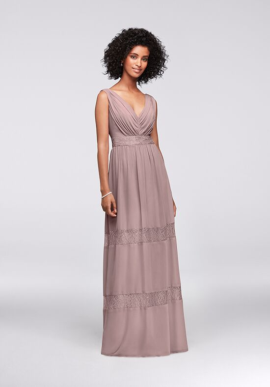 David's Bridal Collection David's Bridal Style F19660 V-Neck Bridesmaid Dress