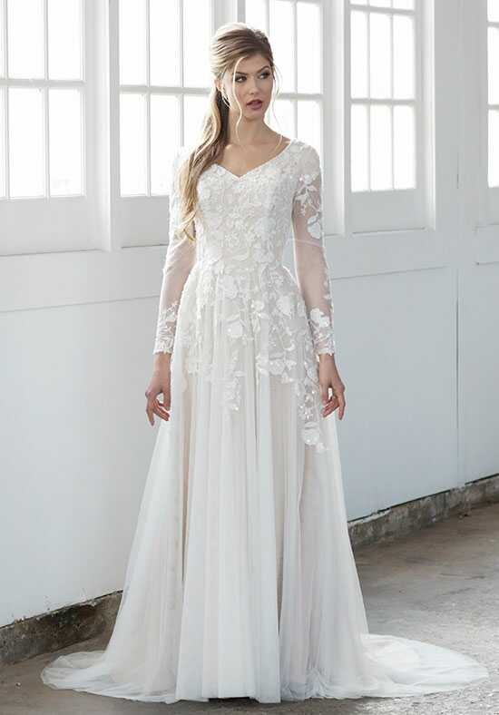Modest by Mon Cheri TR21858 A-Line Wedding Dress