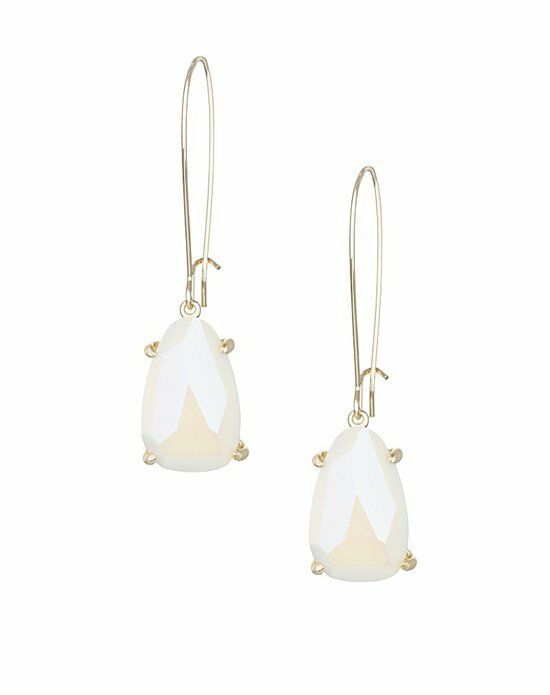 Kendra Scott Nancy Delicate Earrings in White Iridescent Wedding Earring photo