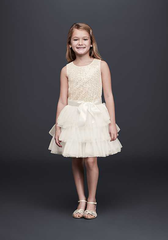 David's Bridal David's Bridal Style S79607DV Ivory Flower Girl Dress