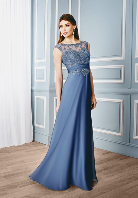 Val Stefani Celebrations MB7531 Blue Mother Of The Bride Dress