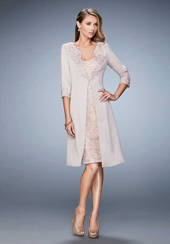 La Femme Evening 21903 Champagne Mother Of The Bride Dress