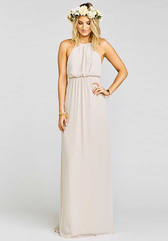Show Me Your Mumu Amanda Maxi Dress - Show Me the Ring Crisp Halter Bridesmaid Dress