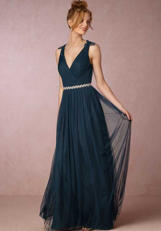 BHLDN (Bridesmaids) Pippa Dress - Navy V-Neck Bridesmaid Dress