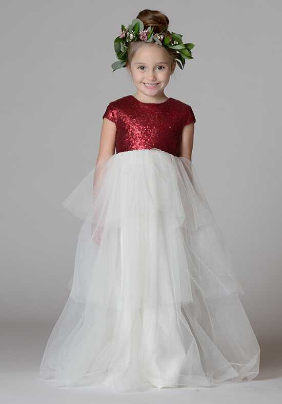 Bari Jay Flower Girls F7717 Red Flower Girl Dress