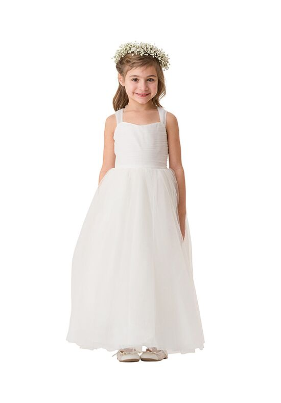 Bari Jay Flower Girls F5516 Ivory Flower Girl Dress