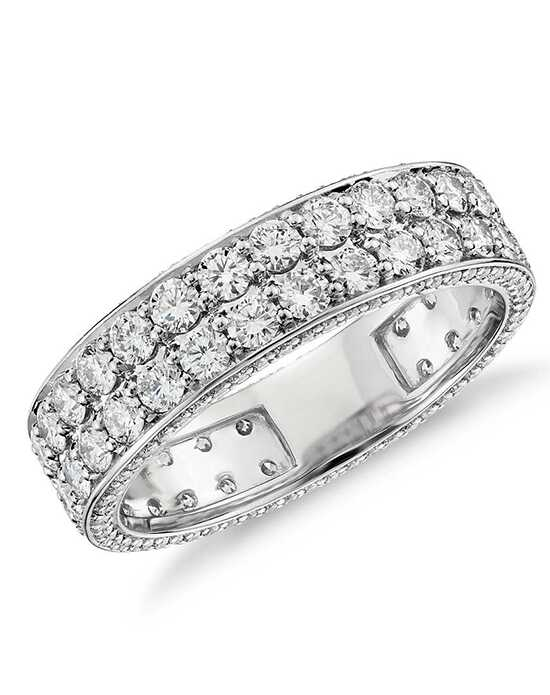 "Say ""I do!"" in Platinum Blue Nile Studio Tres Jolie Diamond Eternity Ring in Platinum Platinum Wedding Ring"