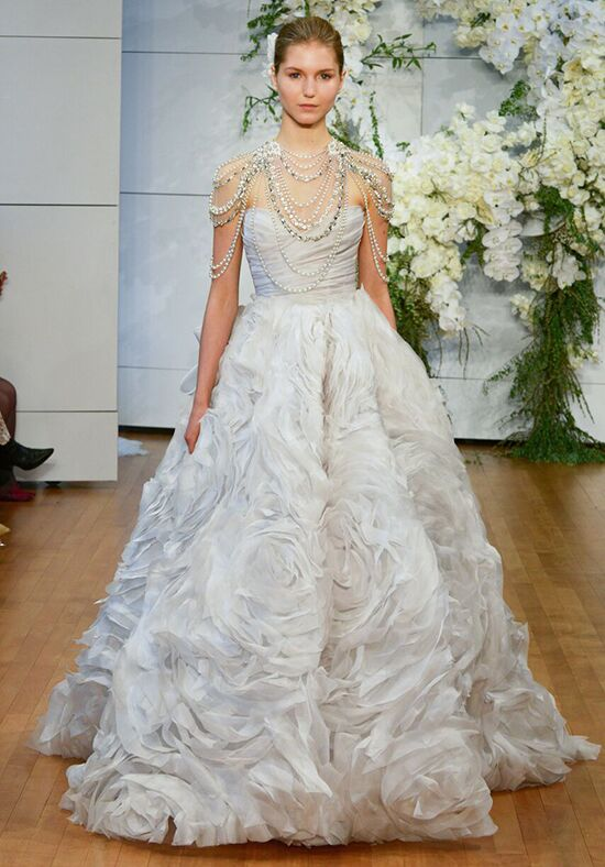 Monique Lhuillier Isabella Ball Gown Wedding Dress