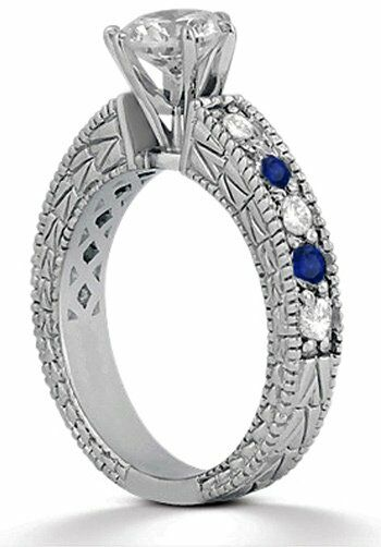 Allurez - Customized Rings U651 Palladium, Platinum, White Gold Wedding Ring