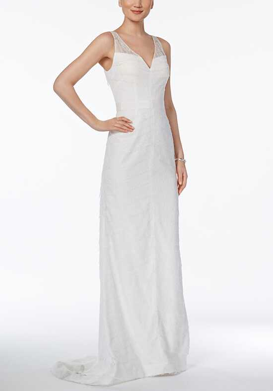Adrianna Papell Wedding Dresses Adrianna Papell Tiered Lace Gown A-Line Wedding Dress