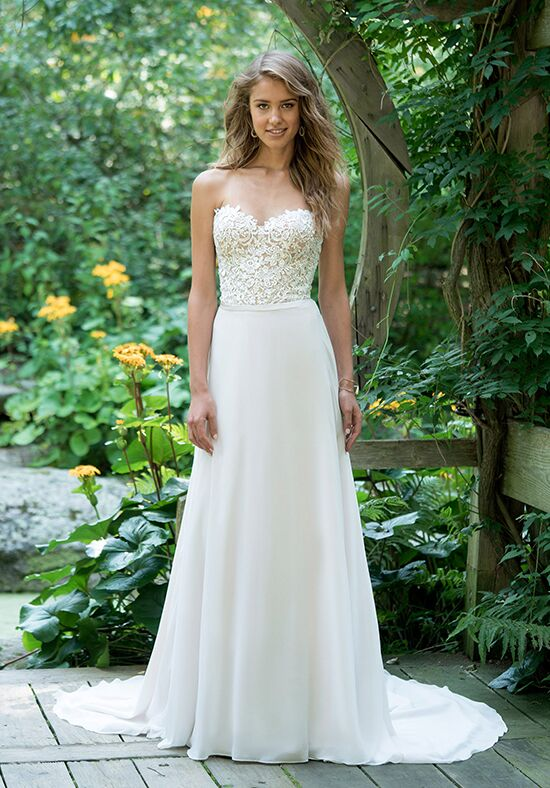 Lillian West 66019 A-Line Wedding Dress