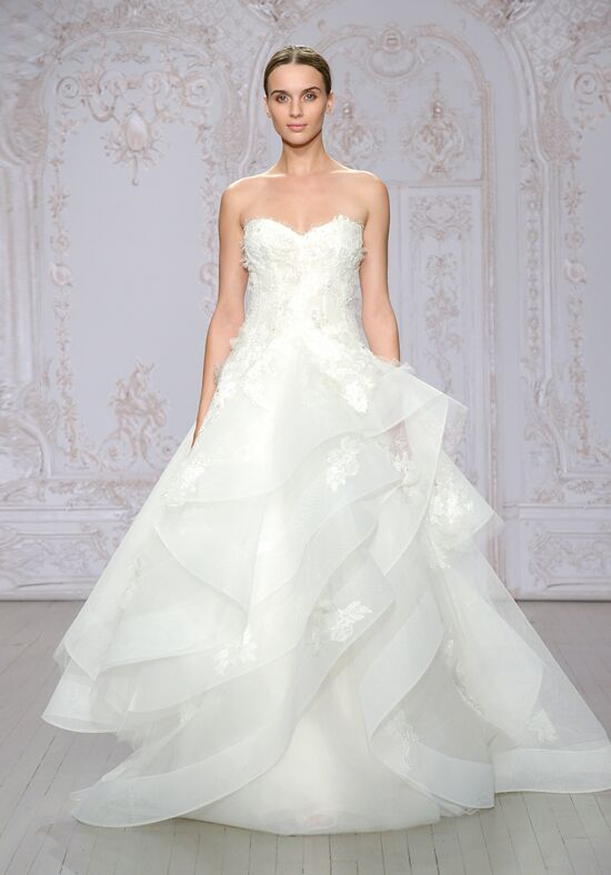 Monique lhuillier azure wedding dress the knot for Price of monique lhuillier wedding dresses