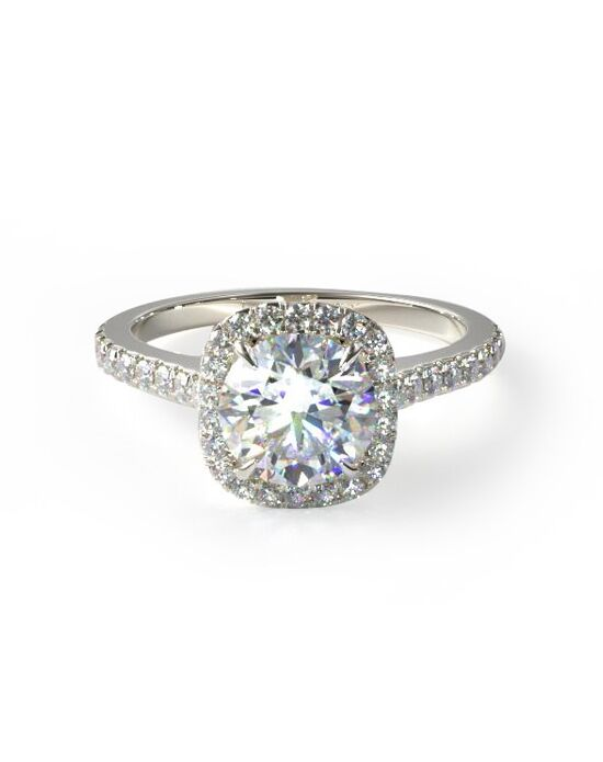 James Allen Elegant Princess, Cushion, Round Cut Engagement Ring