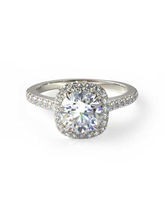 James Allen Cushion Outline Pave Engagement Ring Engagement Ring photo